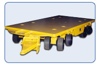 """Slab Deck"" Automotive Die Handling Trailer 50 Ton Capacity"